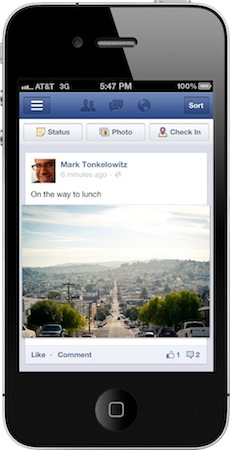 ImageFacebook redesigns mobile site and apps, takes a tip (or two) from Instagram