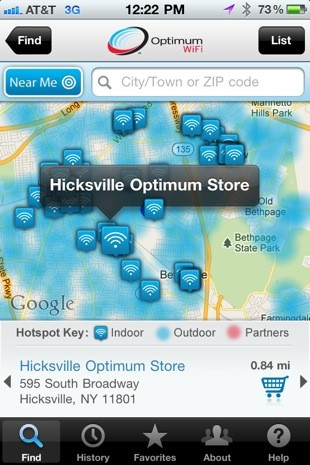 Cablevision launches iOS app to track down Optimum WiFi hotspots, keep you off the 3G sauce