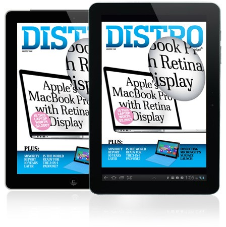 Distro Issue 46 arrives with the Retinawielding MacBook Pro, Microsoft's big week, and Minority Report