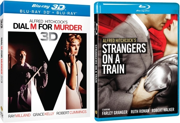 Hitchcock classics Dial M for Murder 3D and Strangers on a Train come to Bluray October 9th