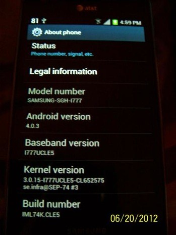 Samsung Galaxy S II on AT&T gets Android 40, just Sprint left to go
