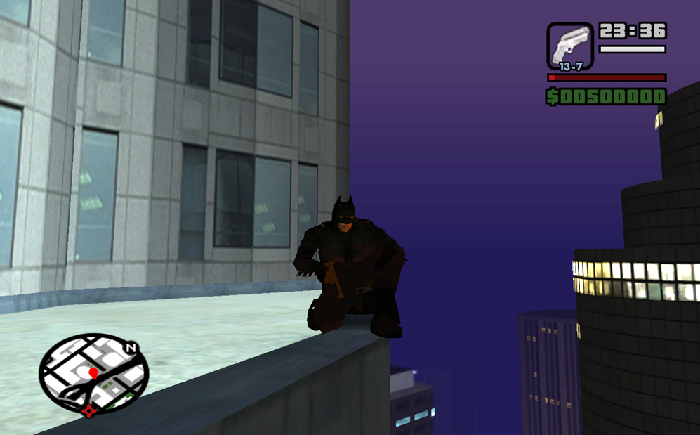 Turn Grand Theft Auto: San Andreas for the PC into a Batman simulator